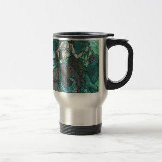 Mermaid Unicorn Ocean Sea Teal Green Travel Mug