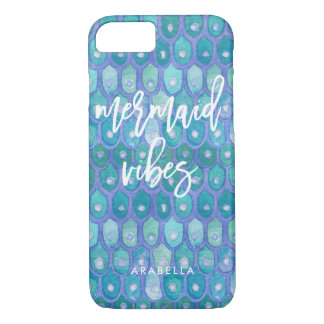Mermaid Vibes | Modern Teal and Typography Case-Mate iPhone Case