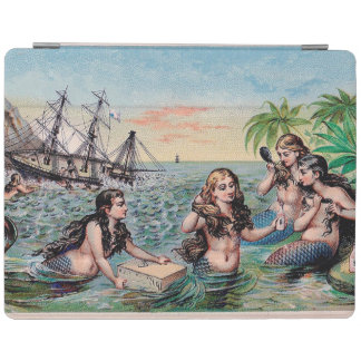 Mermaid Vintage Antique Magic Nautical iPad Cover