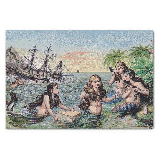 Mermaid Vintage Antique Magic Nautical Tissue Paper