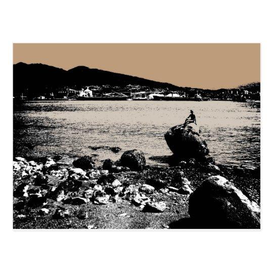 Mermaid Watching the Harbour Postcard