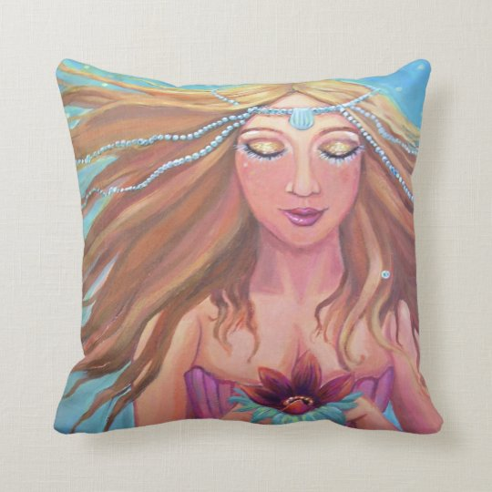 Mermaid Wish - Pillow - By Susan Rodio Art