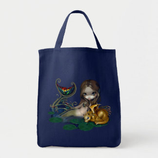 Mermaid with a Golden Dragon Bag fantasy art