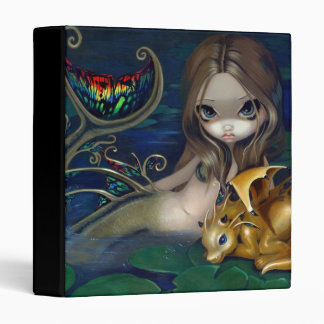 Mermaid with a Golden Dragon Binder fantasy art