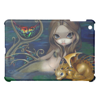 """Mermaid with a Golden Dragon"" iPad Case"