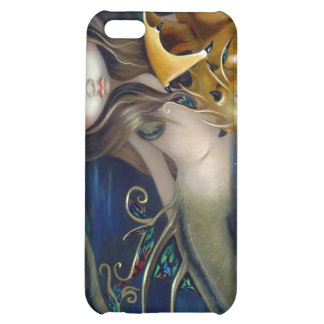 """""""Mermaid with a Golden Dragon"""" iPhone 4 Case"""