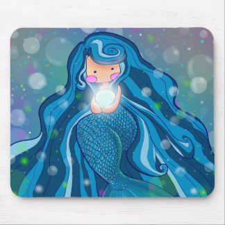 Mermaid with bright pearl mousepad