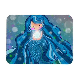 Mermaid with bright pearl  premium magnet