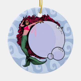 Mermaid With Bubbles Ornament