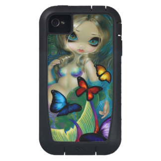 """Mermaid with Butterflies"" iPhone 4 Case"