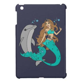 Mermaid with Dolphin iPad Mini Cases