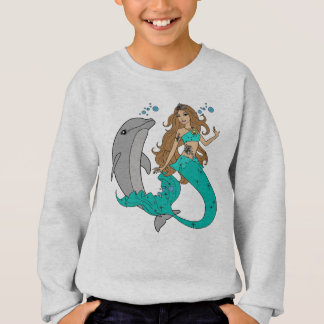 Mermaid with Dolphin Sweatshirt