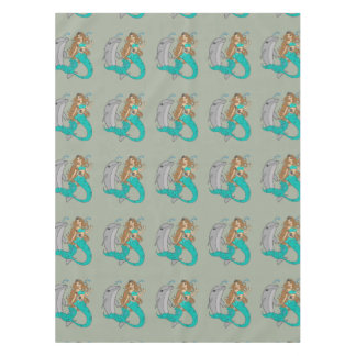 Mermaid with Dolphin Tablecloth