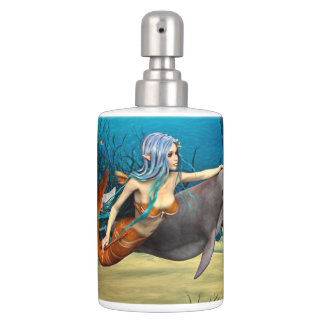 Mermaid with Dolphin Toothbrush Holder