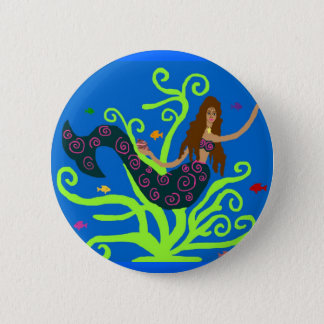 Mermaid with fish button