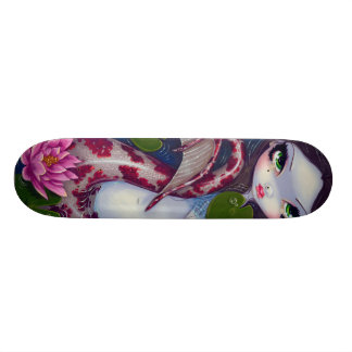 Mermaid With Pink Lotus Skateboard
