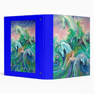 mermaid  with sea horses binder