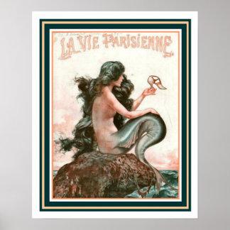 Mermaid with Shoe La Vie Parisienne 16 x 20 Poster
