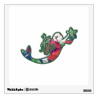 Mermaid with Starfish - Secret Realm Under the Sea Wall Decal