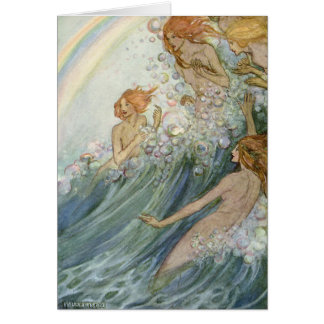Mermaids and a Rainbow, Card