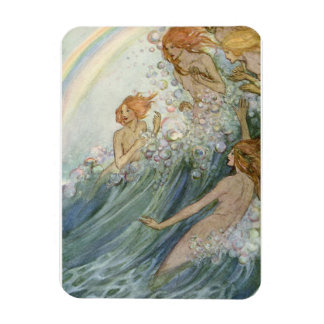 Mermaids and a Rainbow, Rectangular Photo Magnet