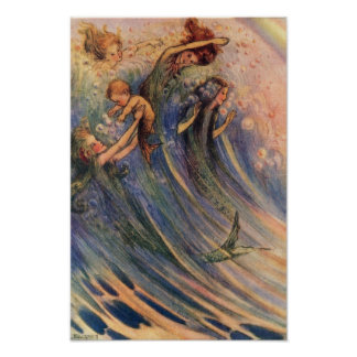 Mermaids and Babies Poster