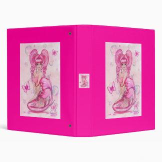 """""""Mermaids and Butterflies"""" Pink fantasy BINDER"""