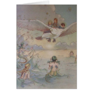 Mermaids and Seagull, Card