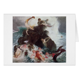 Mermaids at Play, 1886 (oil on canvas) Greeting Card