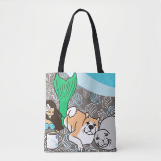 Mermaid's best friends tote bag