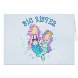 Mermaids Big Sister Greeting Card