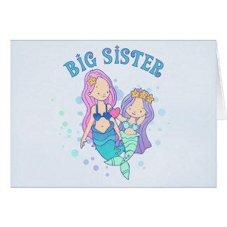 Mermaids Big Sister Note Card