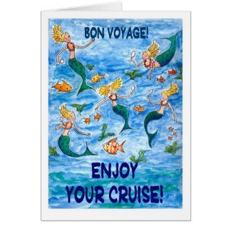 Mermaids 'Bon Voyage' card for a Cruise