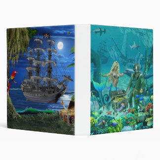 Mermaid's Coral Reef Treasure 3 Ring Binders