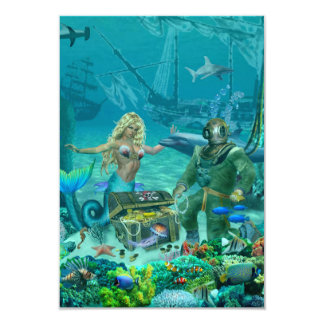Mermaid's Coral Reef Treasure Card