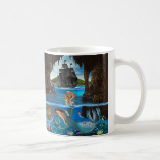 Mermaid's Coral Reef Treasure Coffee Mug