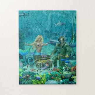 Mermaid's Coral Reef Treasure Jigsaw Puzzle