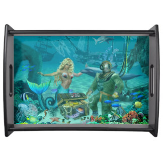 Mermaid's Coral Reef Treasure Serving Tray