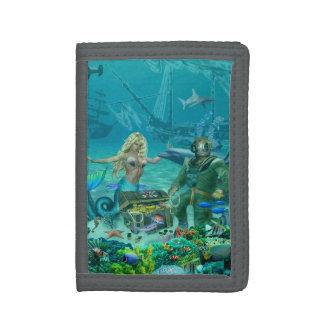 Mermaid's Coral Reef Treasure Tri-fold Wallet