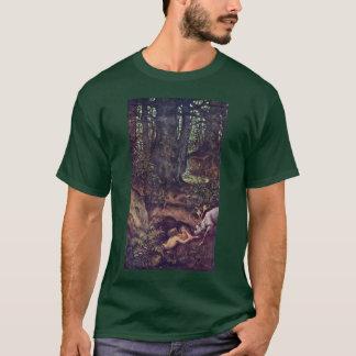 Mermaids Deer Mortifying By Schwind Moritz Von T-Shirt