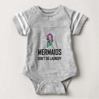 Mermaids Do Not Do Laundry Baby Bodysuit