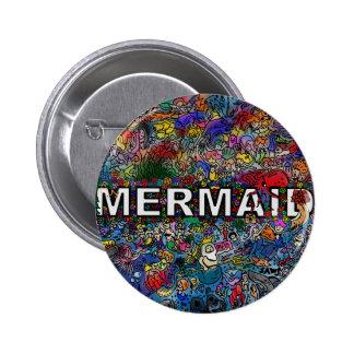 Mermaids Doodle 2 Inch Round Button
