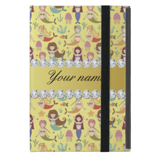 Mermaids Faux Gold Foil Bling Diamonds Cover For iPad Mini