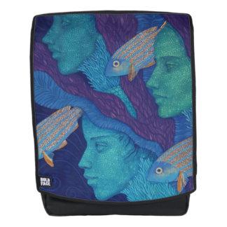 Mermaids & fish, underwater fantasy, nautical art