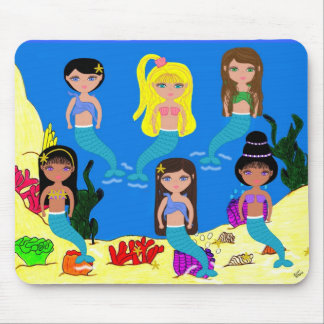 Mermaids from around the World-Mousepad Mouse Pad