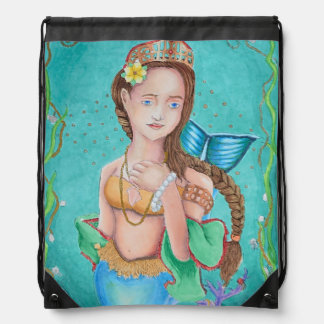 Mermaid's Garden Drawstring backpack