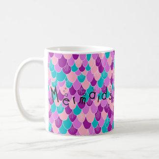 Mermaids Have Mer Fun Mult Pink Scales Mug