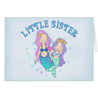Mermaids Little Sister Cards