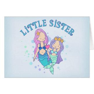 Mermaids Little Sister Note Card
