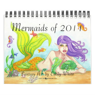 Mermaids of 2011 fantasy illustration art calendar